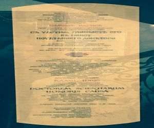 Degree of Doctor Honoris Causa from The Russian Federation